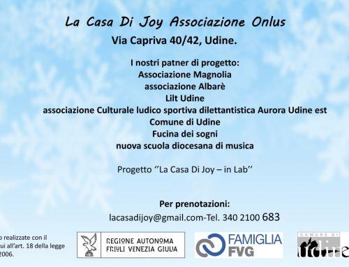 In partenariato con: Associazione Magnolia Associazione Albarè, Associazione Culturale Aurora Udine est, Lilt Udine, Comune di Udine, Fucina dei sogni, nuova scuola diocesana di musica