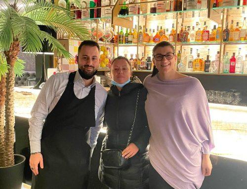 Diego Giordano il titolare del ristorante Biffi di Udine con Laura Libanetti